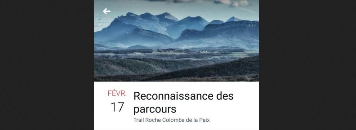 Reco Trail Roche Colombe de la Paix